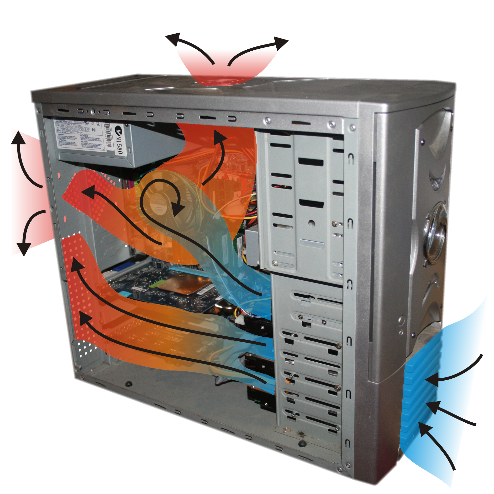 File:Computer case coolingair flow.png - Wikimedia Commons