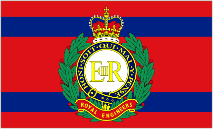 Camp Gate Flag of the Royal Engineers Corps of Royal Engineers Camp Flag.png