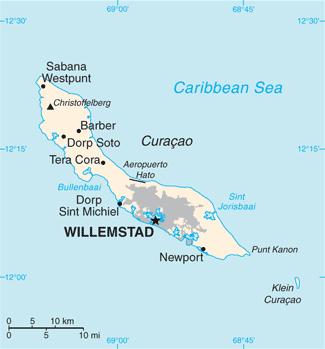Curacao-CIA WFB Map