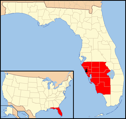 Map Of Venice Florida.File Diocese Of Venice In Florida Map 1 Png Wikimedia Commons