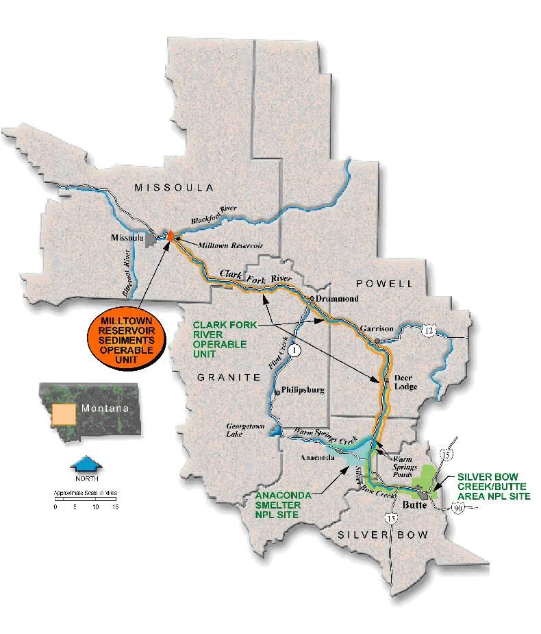 Milltown Reservoir Superfund Site Wikipedia - Us superfund site map