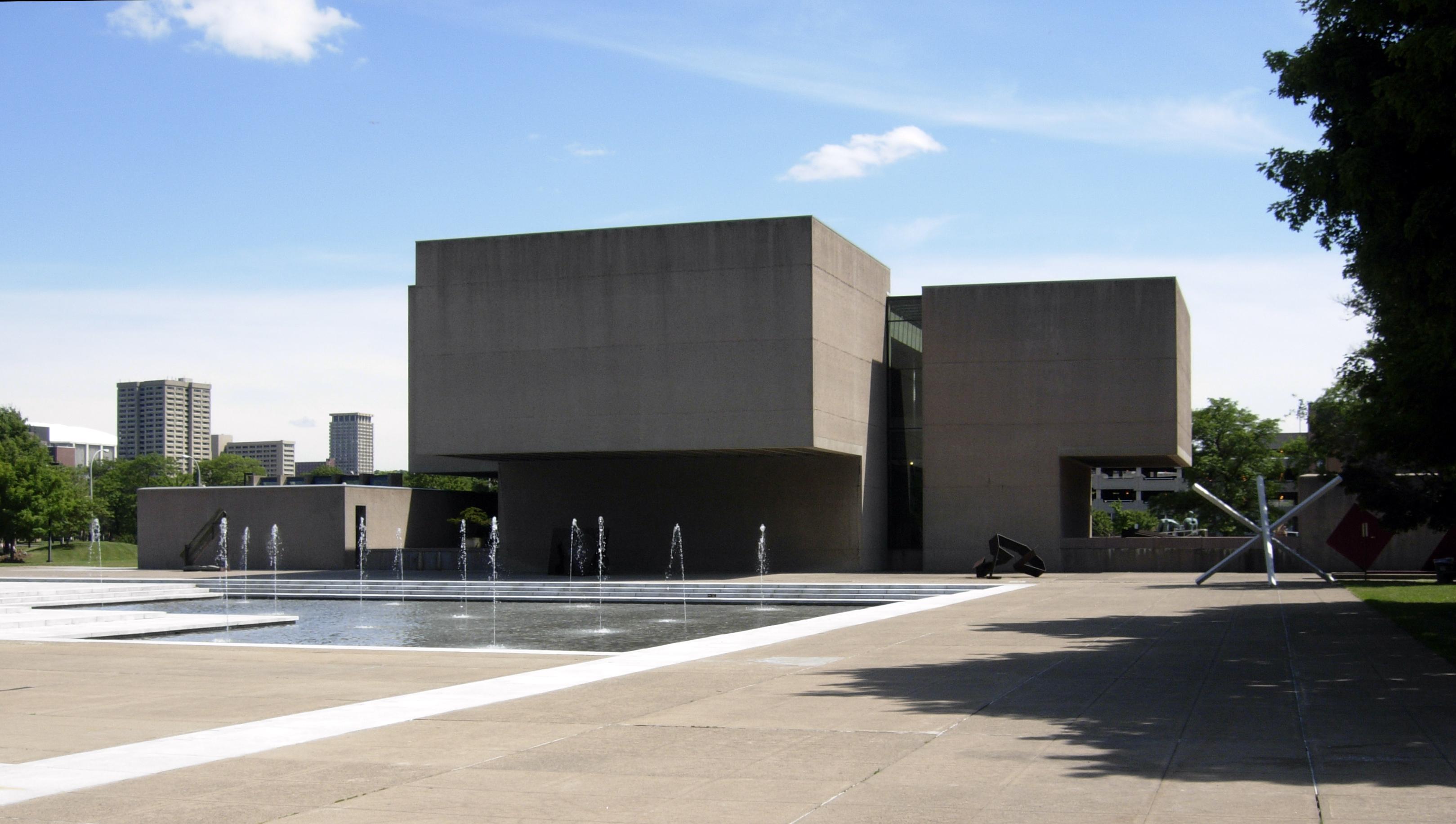 Museum building, designed by [[I. M. Pei]]