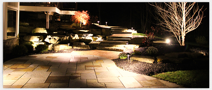 Illuminate Walkways and Steps with Outdoor Landscape Lighting