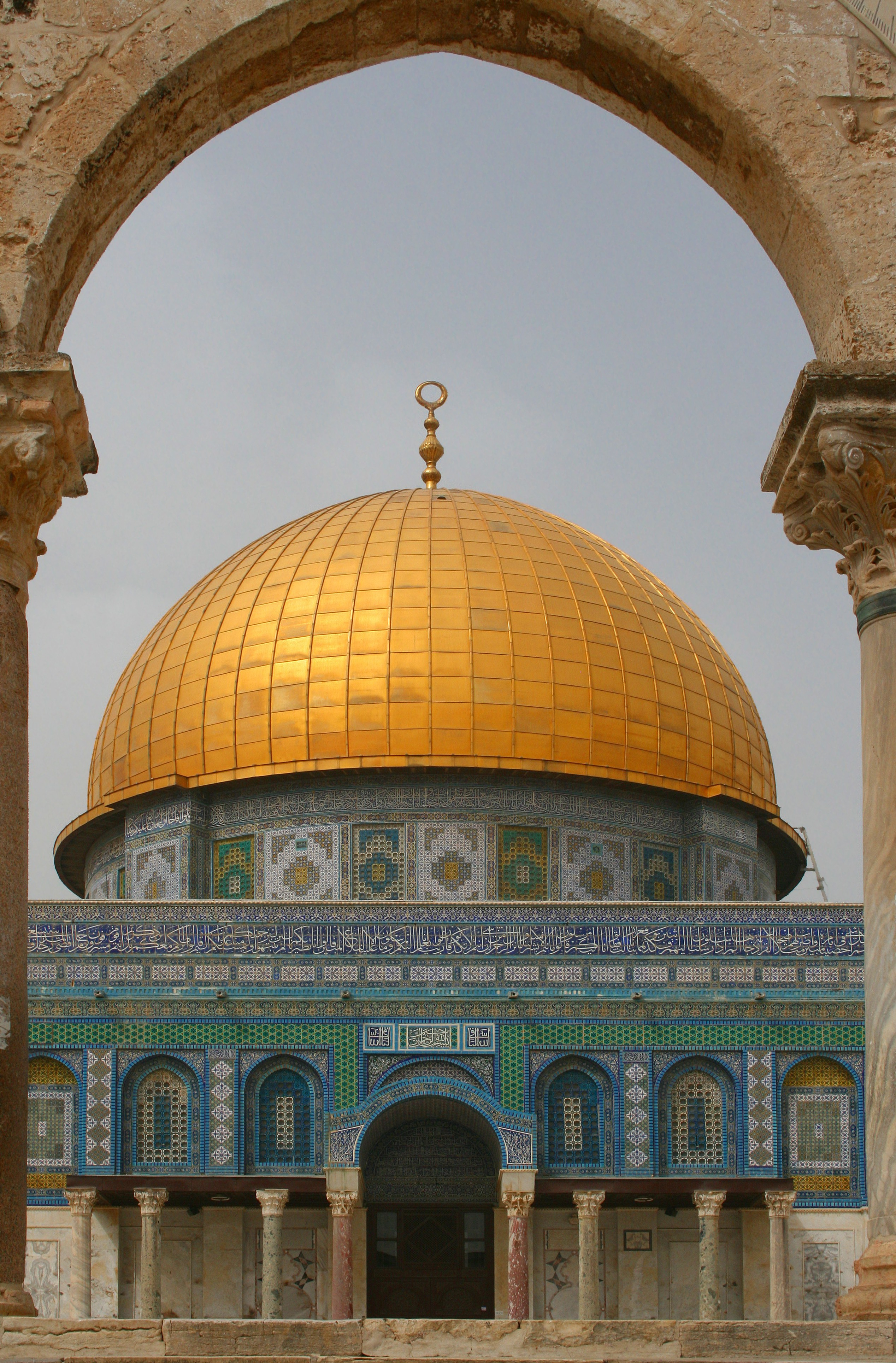 file exterior of the dome of the rock wikipedia