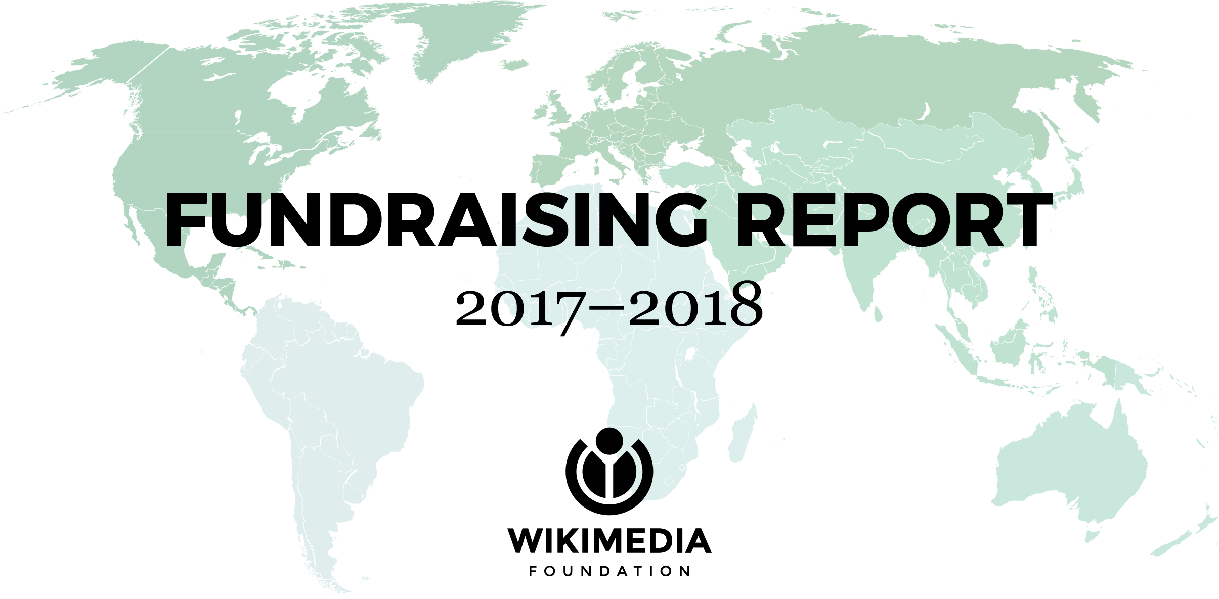 Map of the world for 2017–2018 Fundraising Report