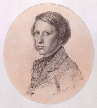 Drawing of Ford Madox Brown