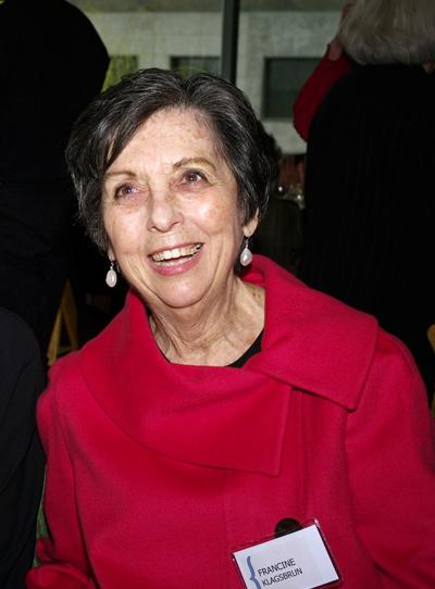 Francine Klagsbrun at the [[Jewish Women's Archive