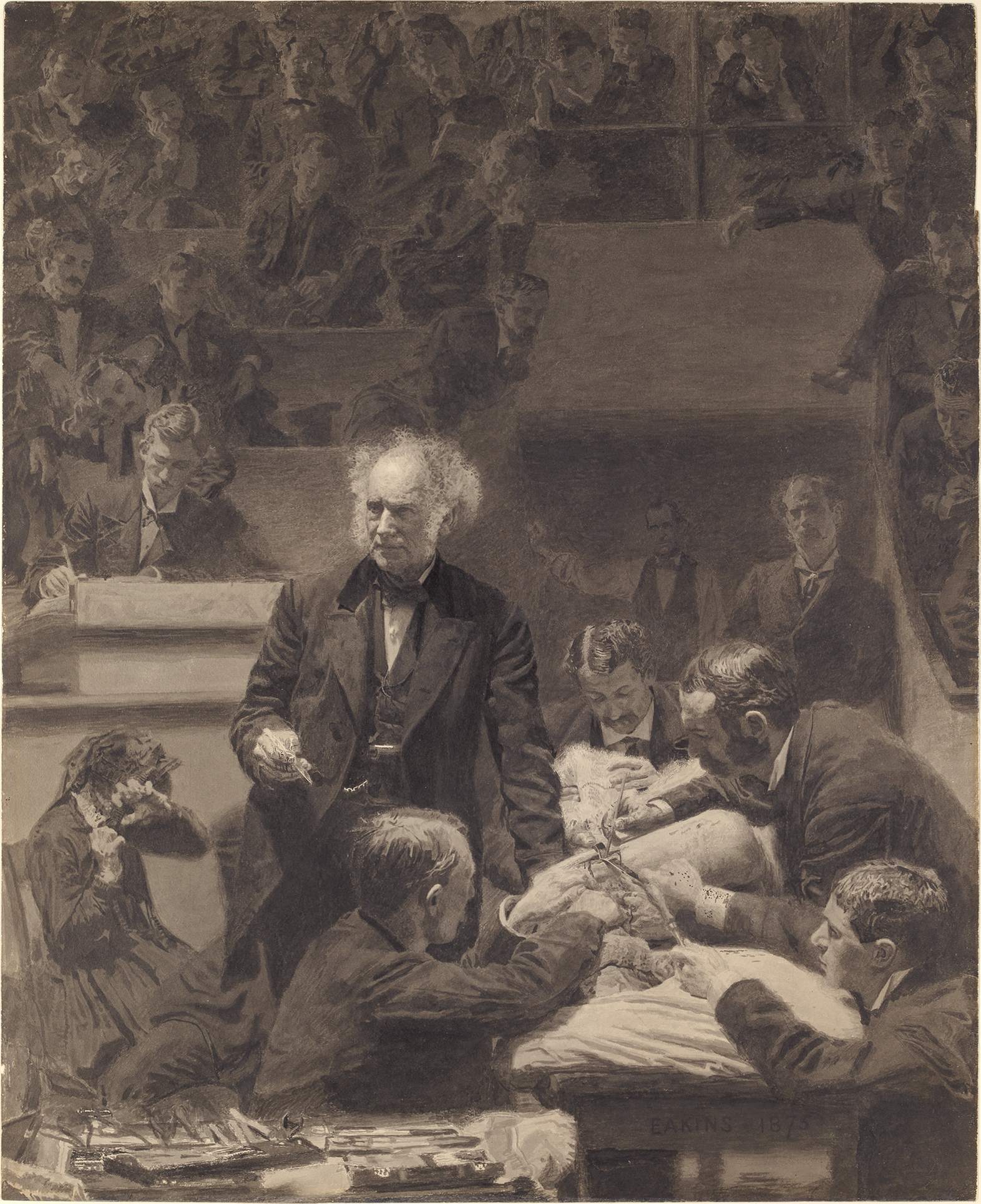 the gross clinic 20 x 25 thomas eakins the gross clinic premium canvas print reproduced to meet museum quality standards our museum quality canvas prints are produced using high-precision print technology for a more accurate reproduction printed on high quality canvas with fade-resistant, archival inks.