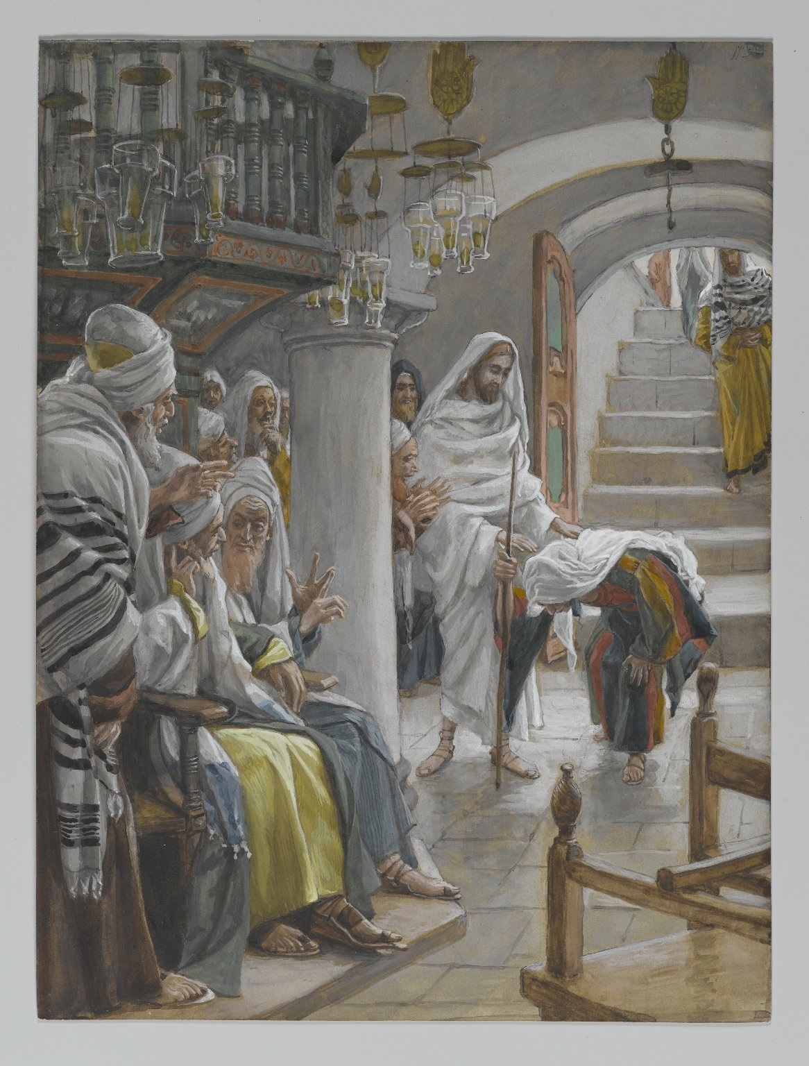 Christ heals a women on the Sabbath