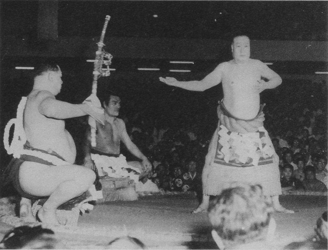 File:Hwangab Kanreki Dohyo-iri from Tsunenohana 1956
