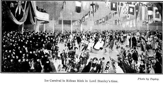 Ice carnival in Rideau Rink c1888