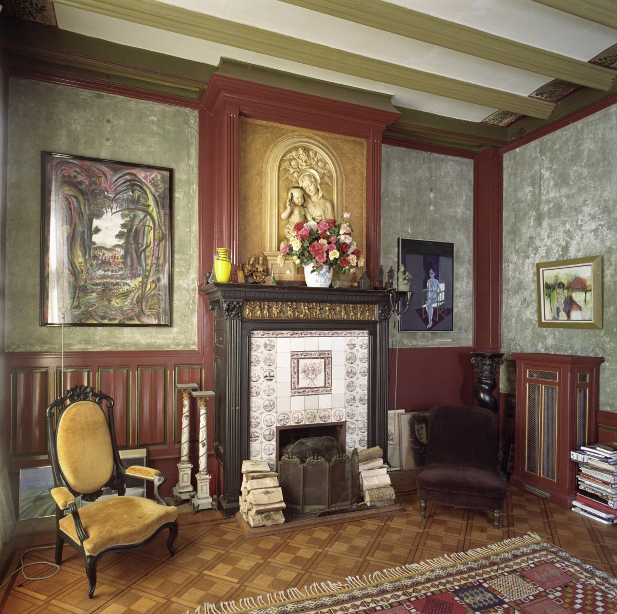 File interieur schouwpartij in achterkamer op de begane for Chateau chenonceau interieur