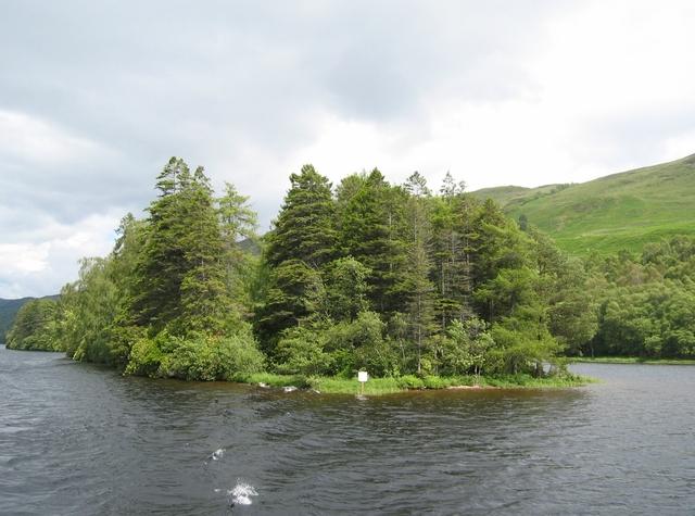 Island in Loch Oich - geograph.org.uk - 488565
