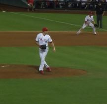 Diekman follows through after throwing a pitch in a game on September 7, 2013