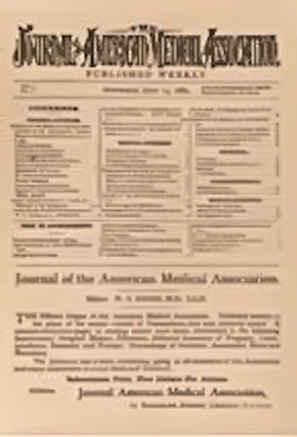 Cover of the first issue of Journal of the Ame...