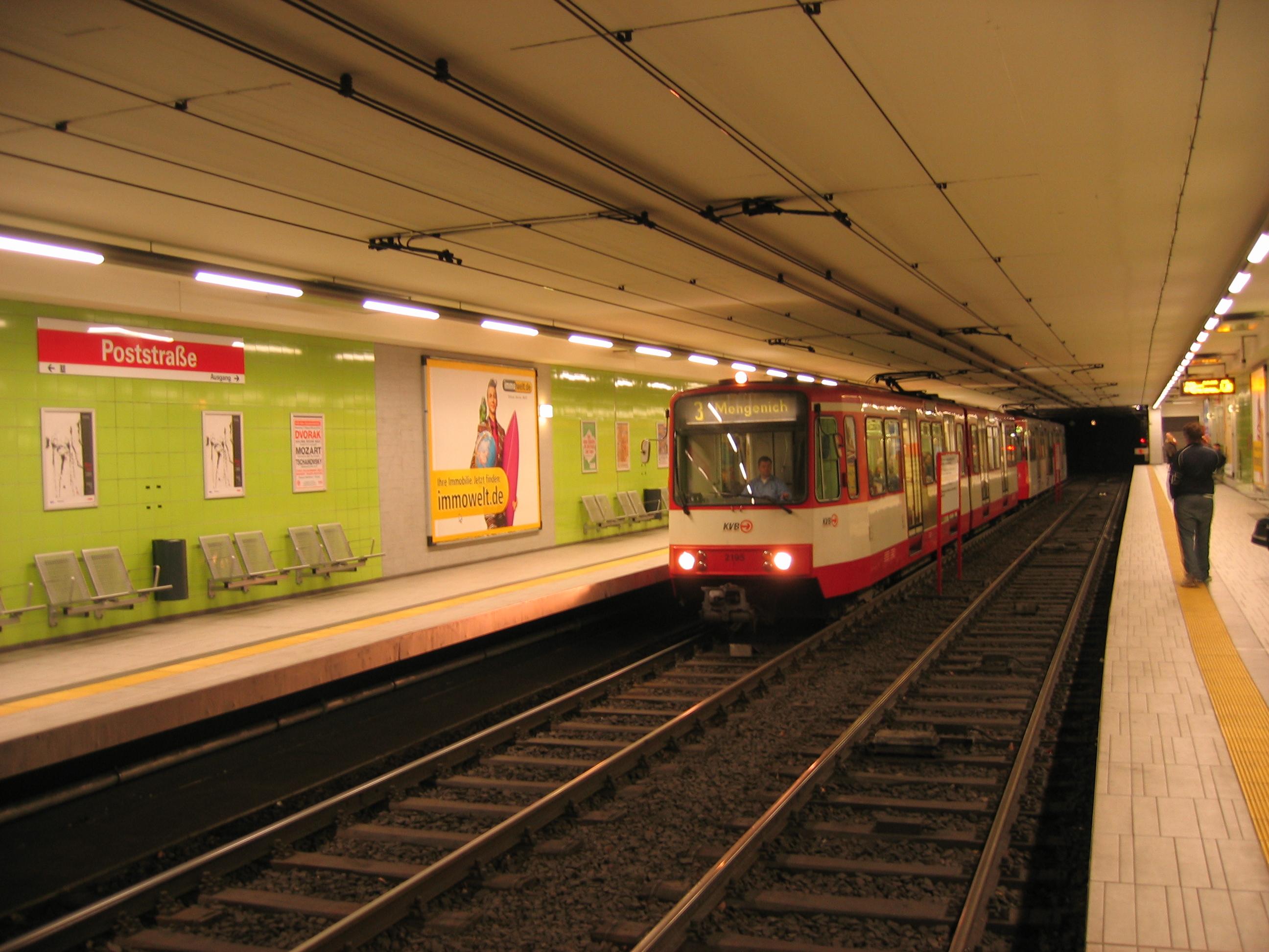 Kölner Stadtbahn der KVB