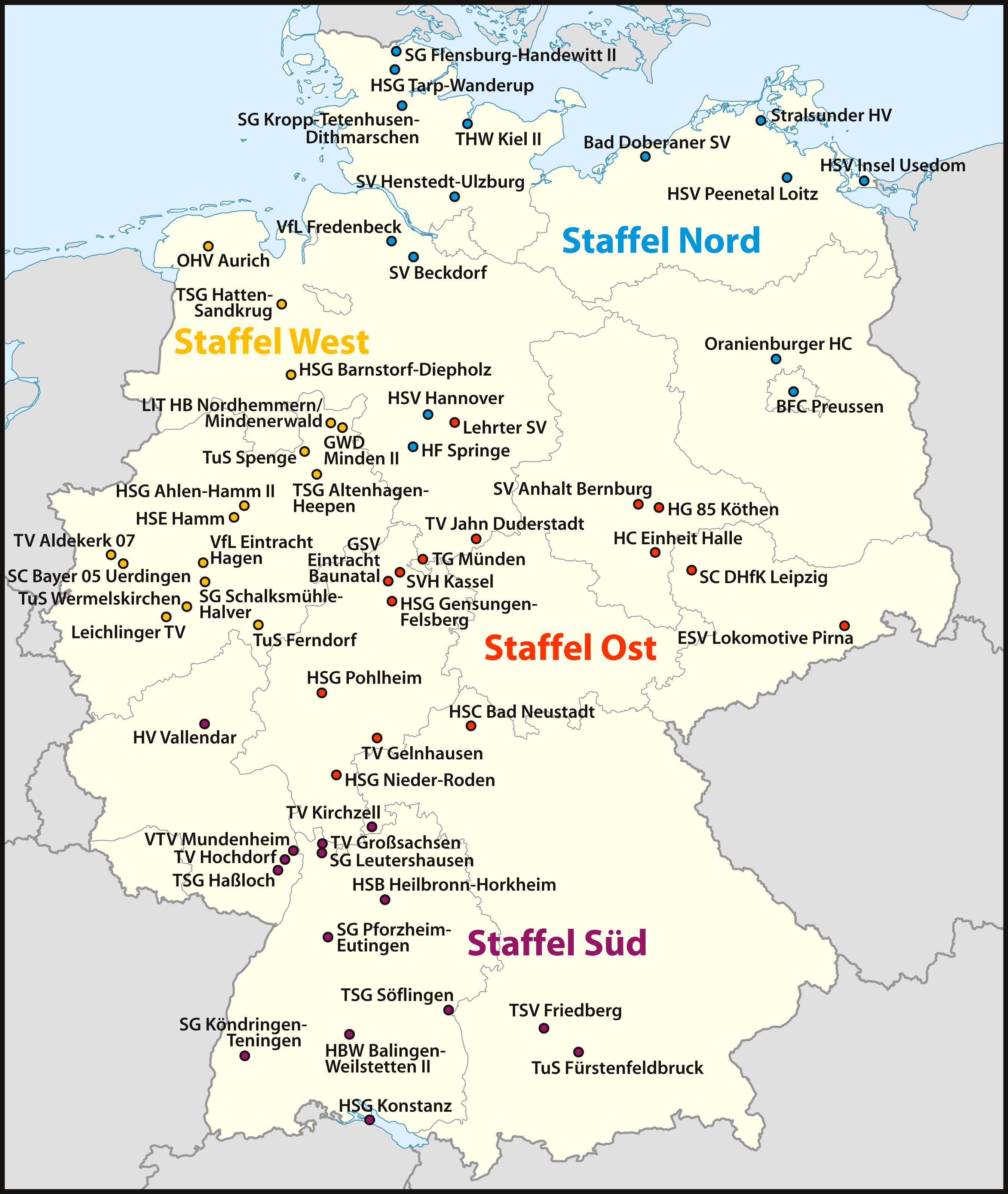 Aktuell 3 Liga Männer Staffel West Deutscher Handballbund