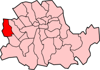 Metropolitan Borough shown within the County of London
