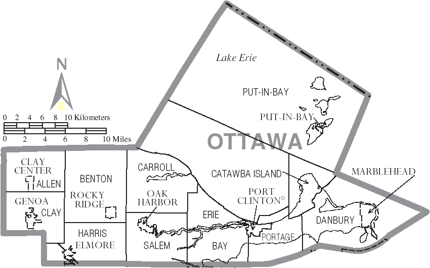 File Map Of Ottawa County Ohio With Municipal And Township Labels