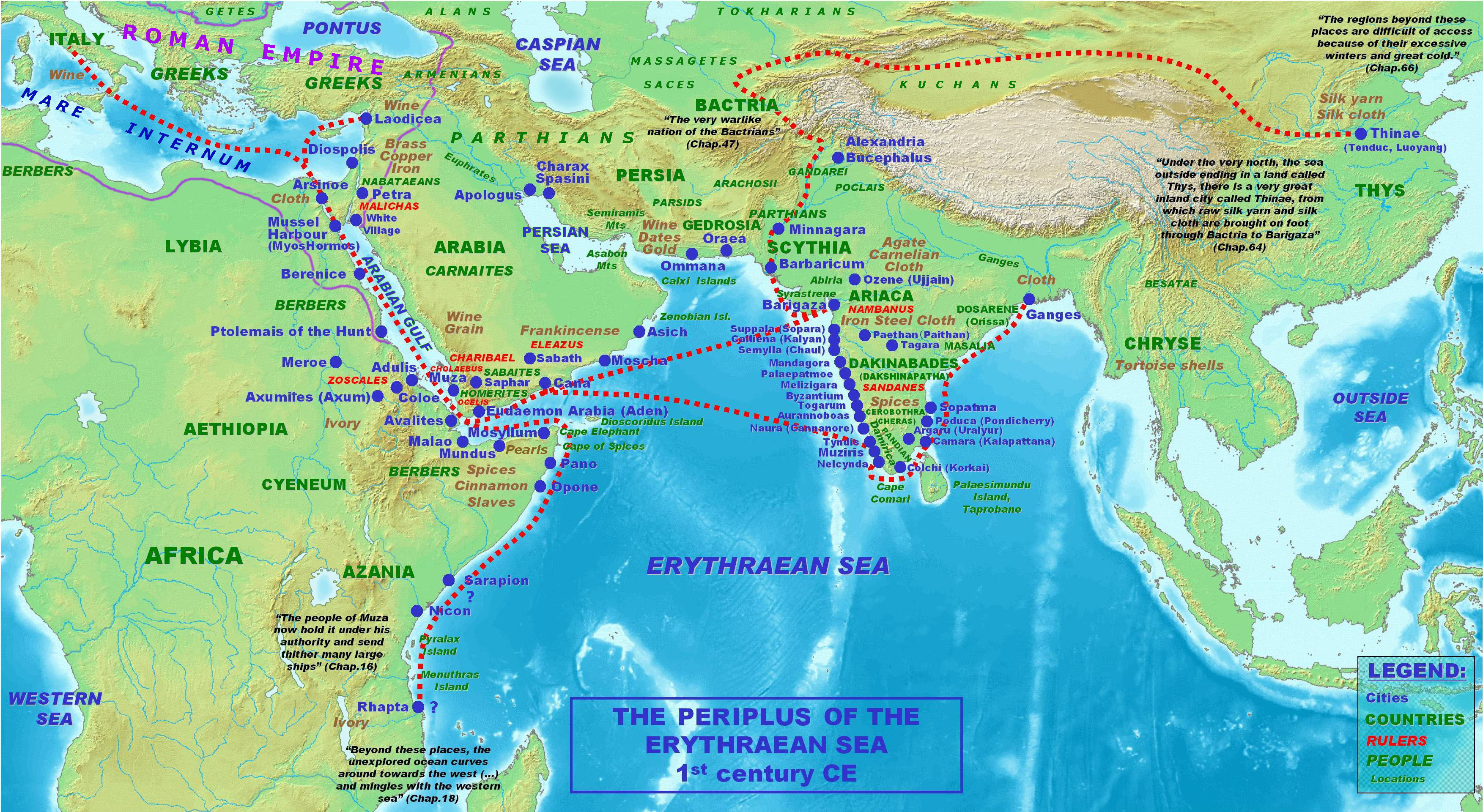 Image result for periplus of the erythraean sea