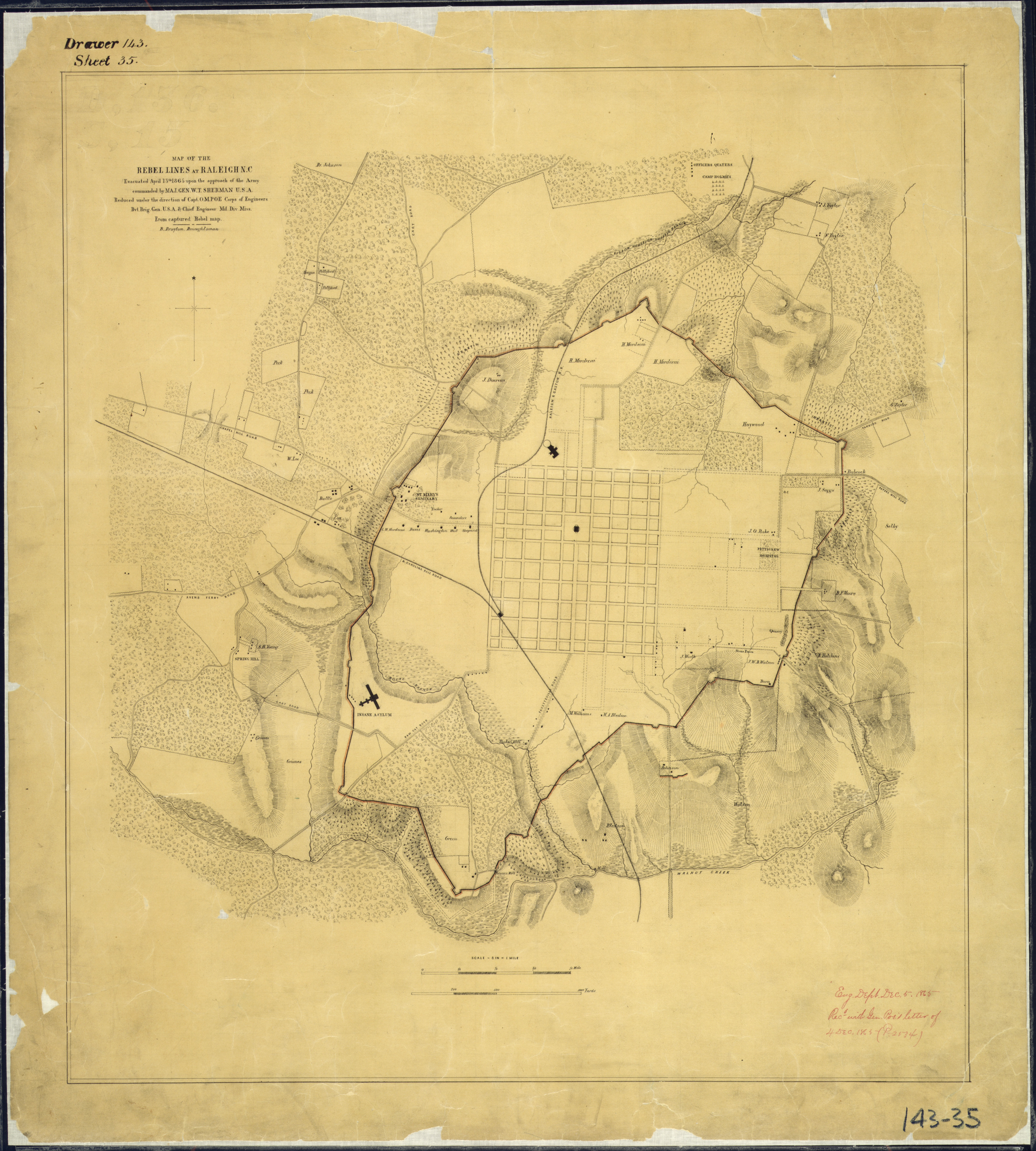 File:Map of the Rebel Lines at Raleigh, N.C., Evacuated April 13th ...