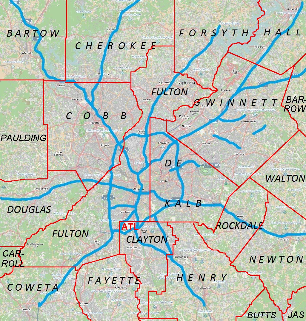 County Map Of Georgia With Roads.Ben Hill Atlanta Wikipedia