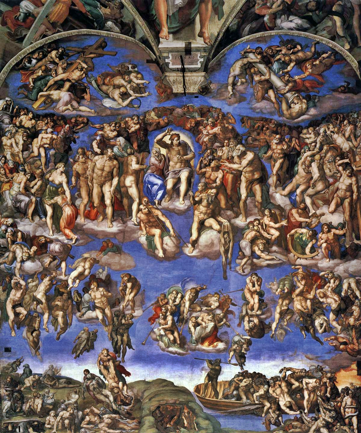 The Last Judgment. Michelangelo Buonarroti (1475–1564).