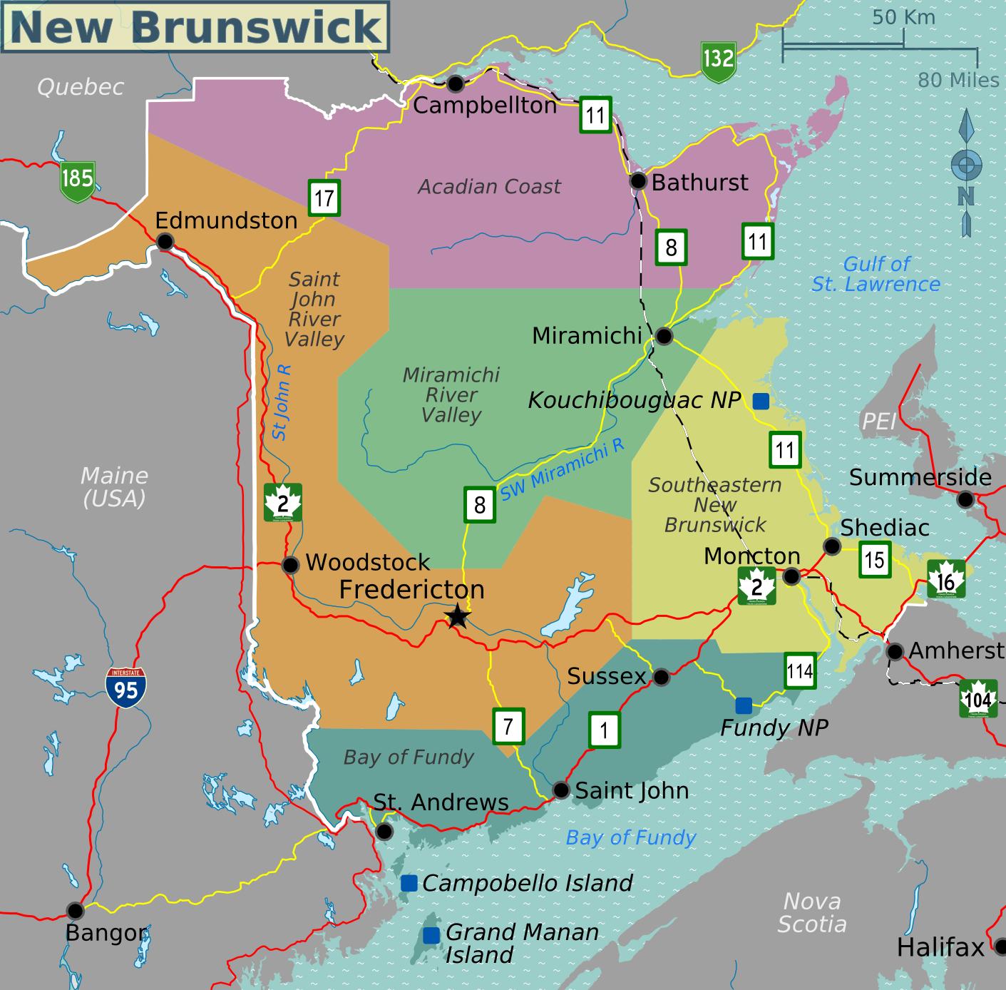 Coastal Atlantic Canada New England