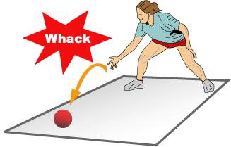 Onomatopia ball whack