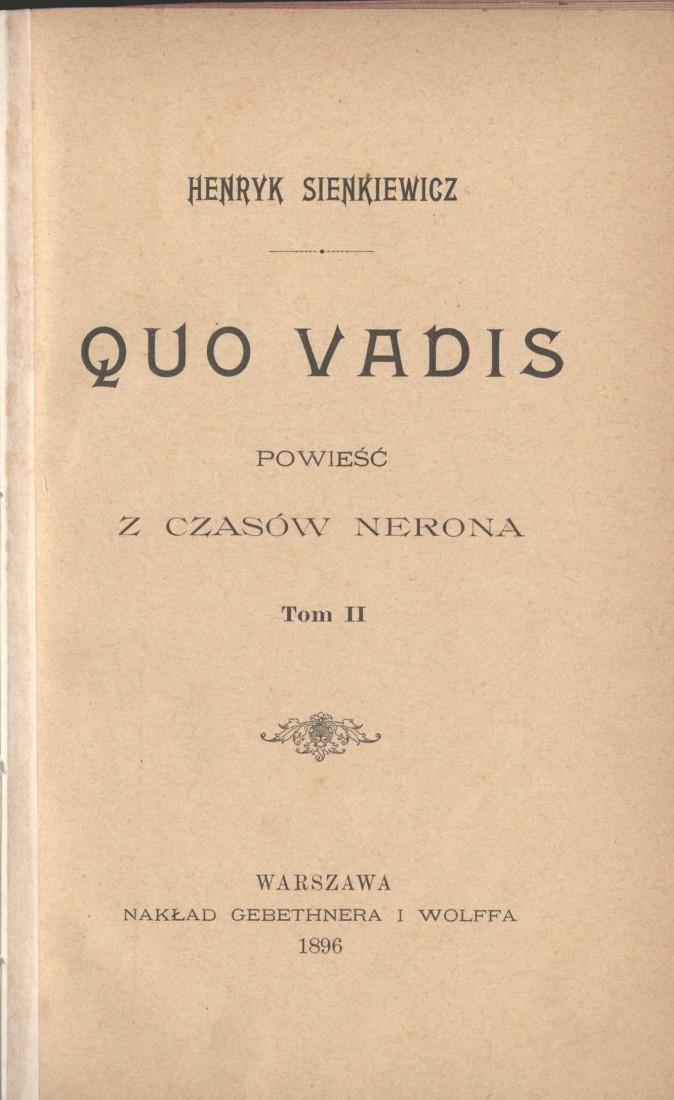 Pl Henryk Sienkiewicz Quo Vadis T