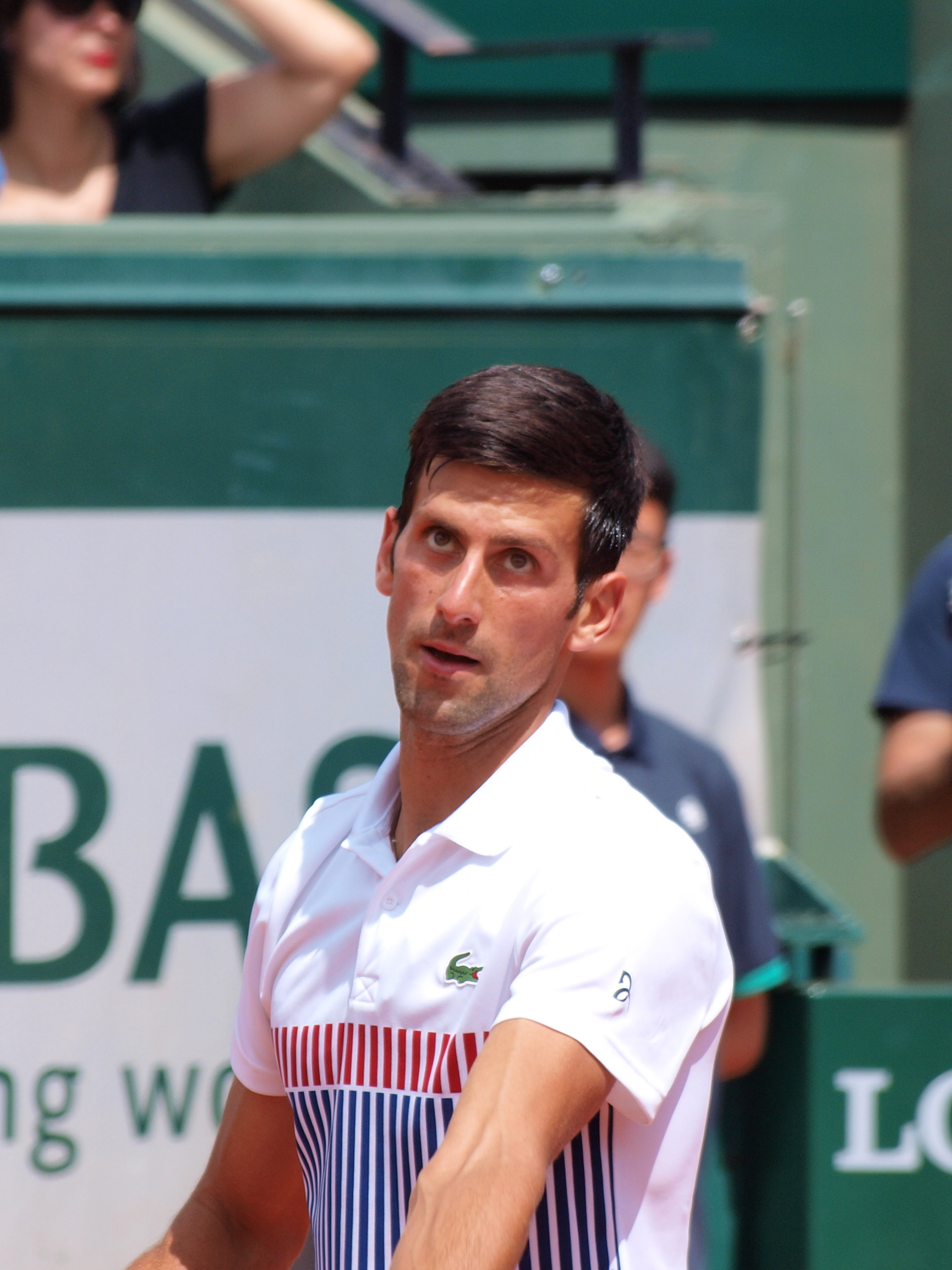 File Paris Fr 75 Open De Tennis 31 5 17 Roland Garros Novak Djokovic 27 Jpg Wikimedia Commons