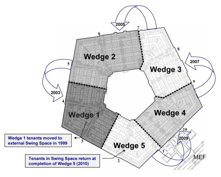 File pentagon renovation program space for Pentagon house plans