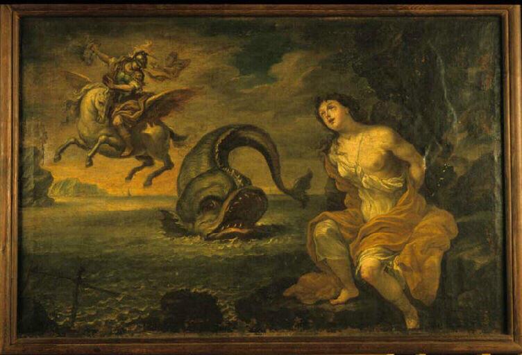 Persée et Andromèden tableau anonyme du XVIIe siècle conservé à Chambéry au musée des beaux-arts