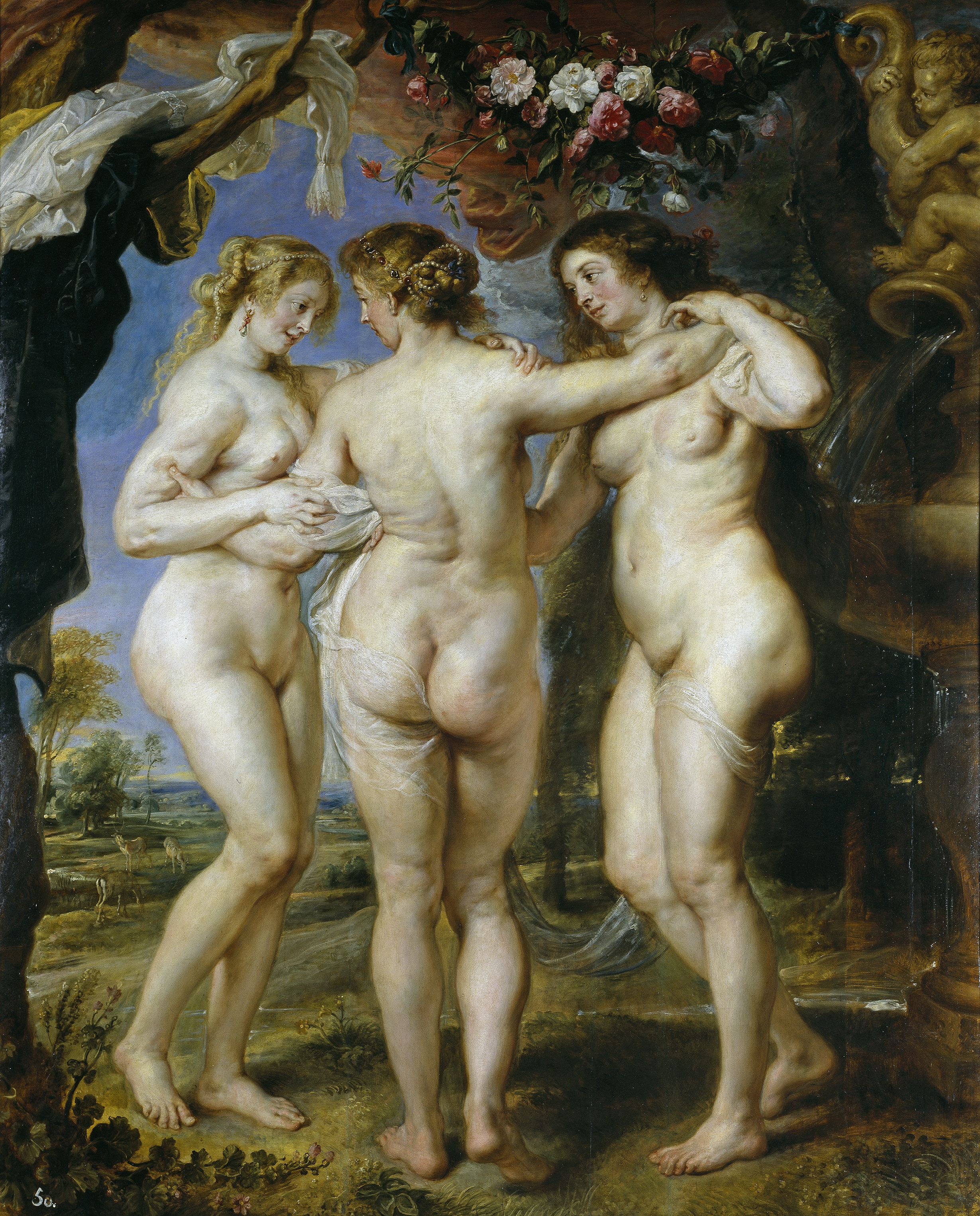The Three Graces paintings by Rubens