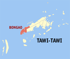Map of Tawi-Tawi showing the location of Bongao
