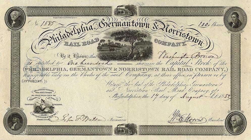 Northeastern Street Railway Company of Reading Stock Certificate Pennsylvania