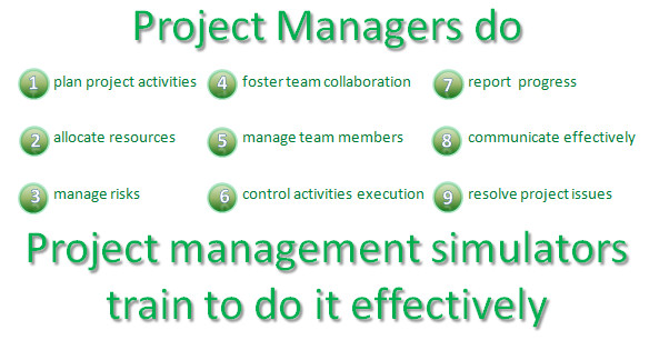 The simulator trains project managers to do their work effectively