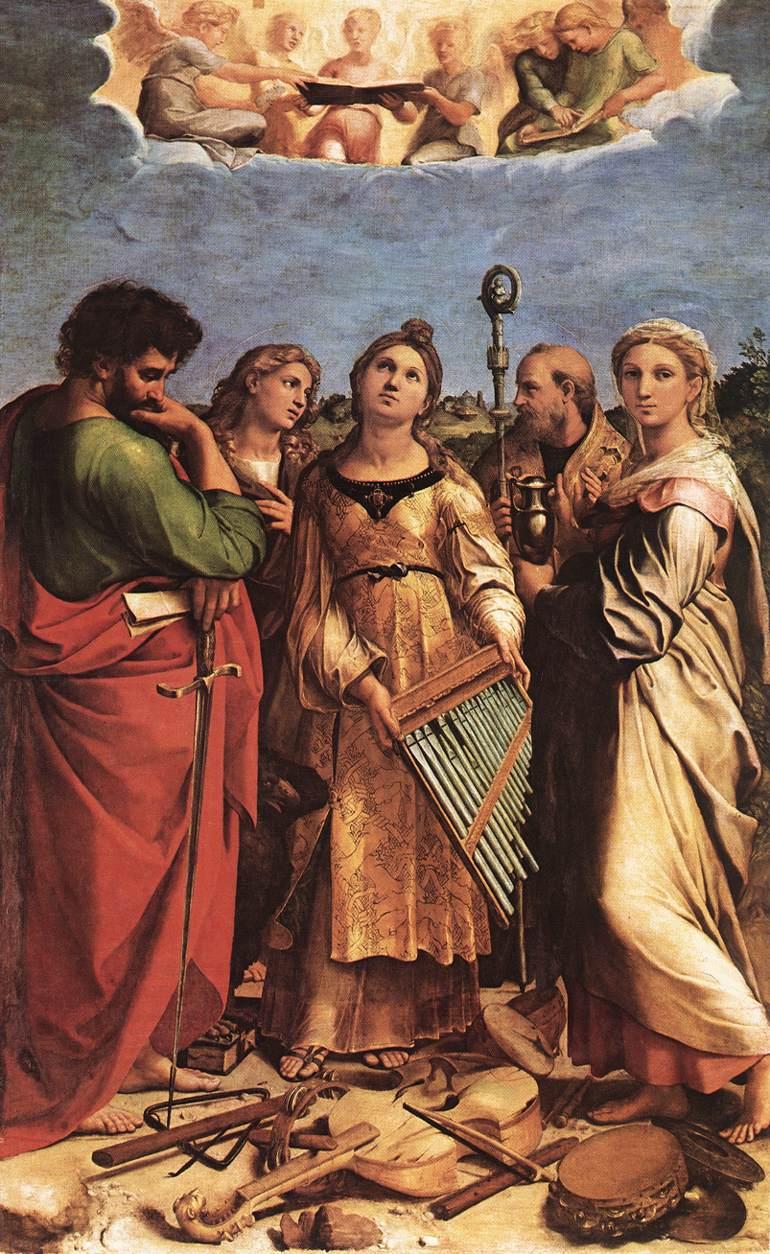 Raffaello: Estasi di santa Cecilia