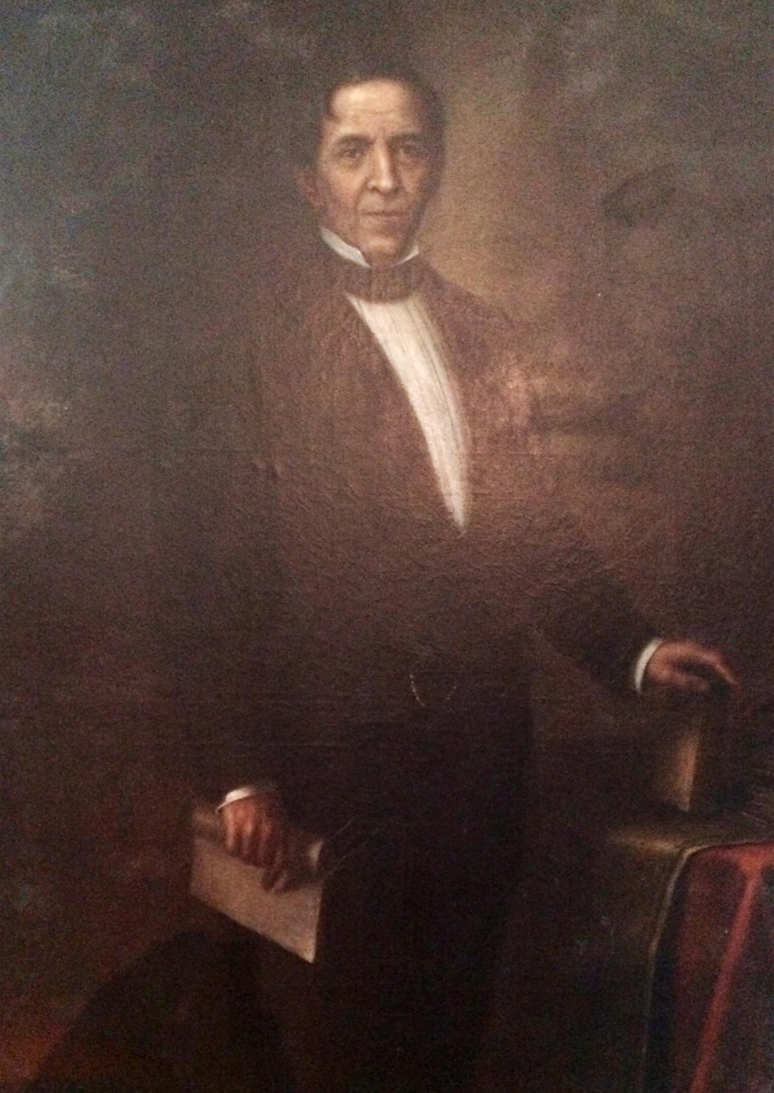 Retrato de Mariano Gálvez en el Museo de Historia de Guatemala