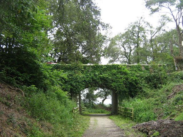 Road bridge over cycleway nr. Heligan - geograph.org.uk - 493327