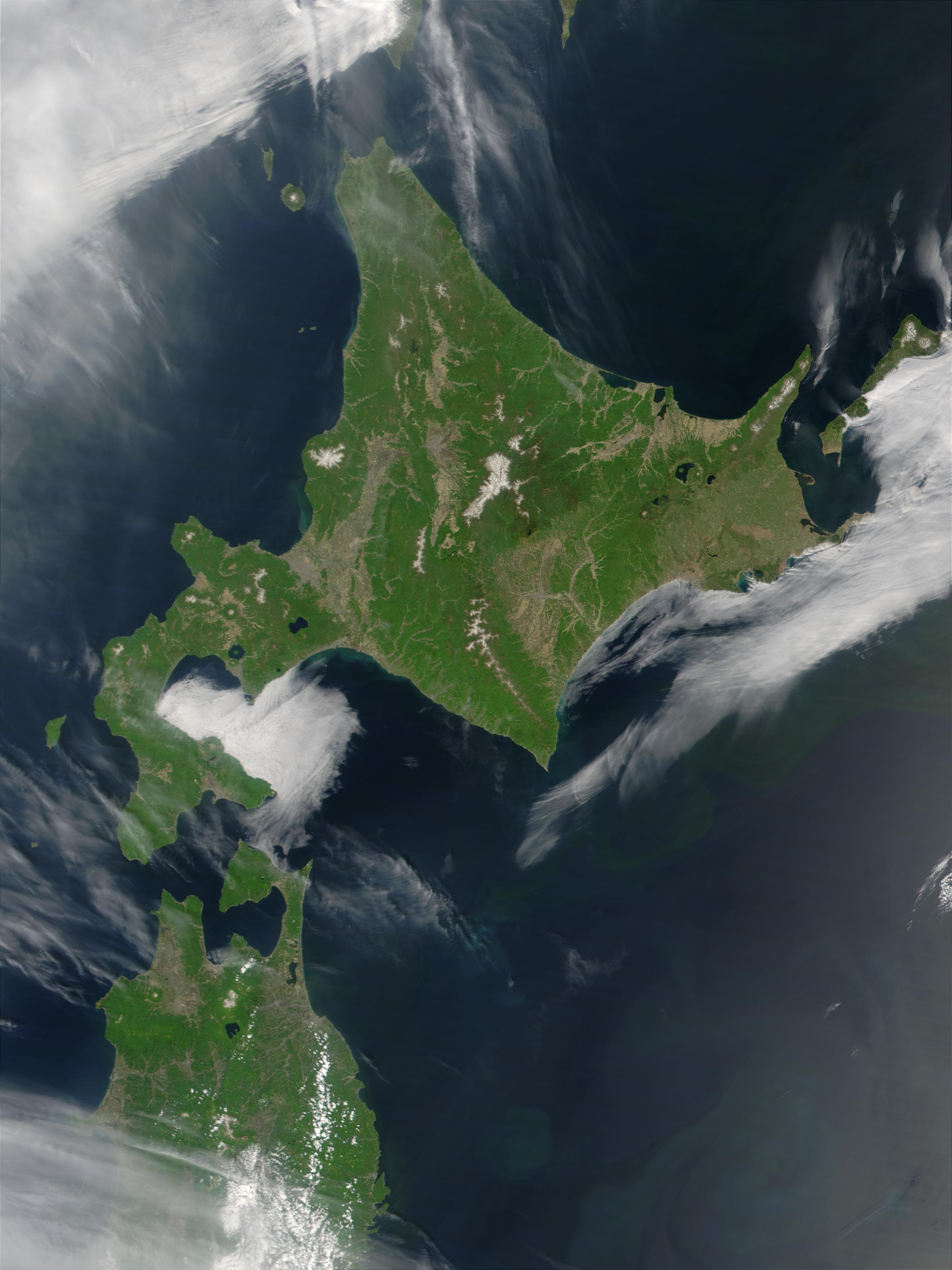 FileSatellite Image Of Hokkaido Japan In May Jpg - Japan map satellite