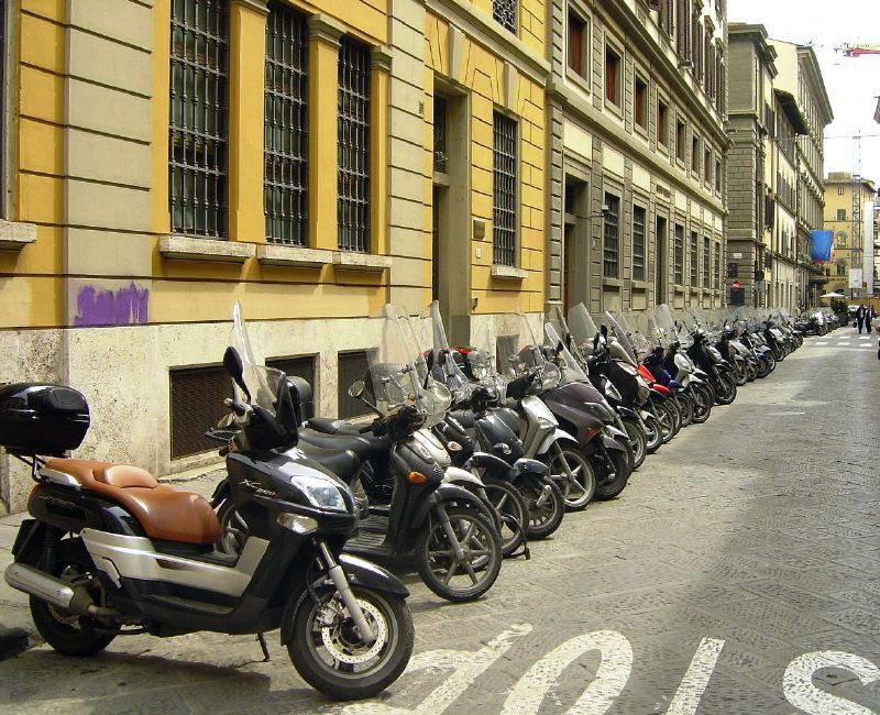 Scooter parking Florence