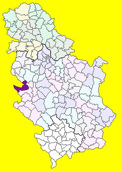 bajina basta mapa Bajina Bašta (općina) – Wikipedija bajina basta mapa