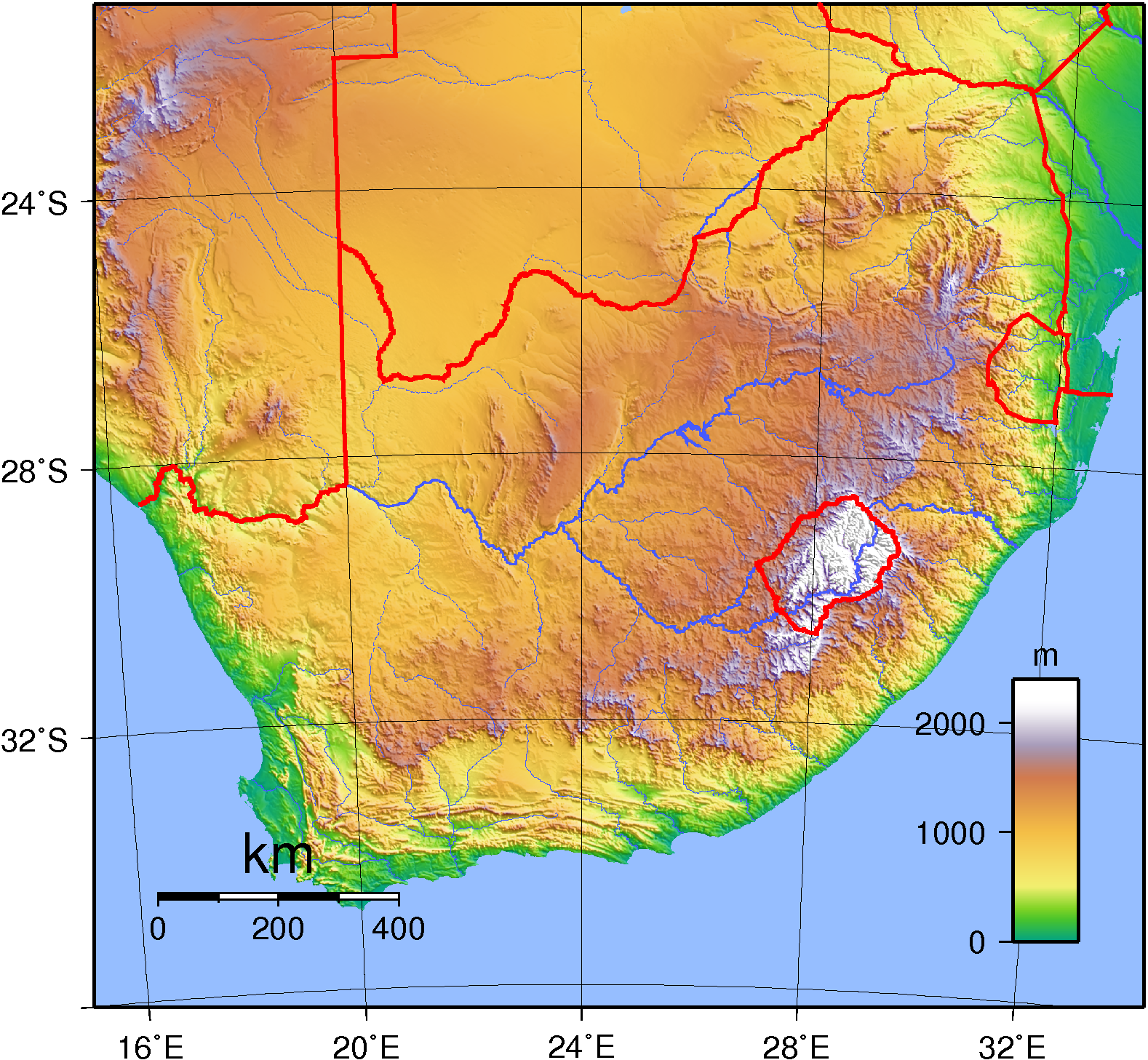 Blank Topographic Map Of Africa