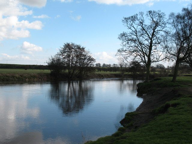 The Wharfe at Newton Kyme - geograph.org.uk - 722570