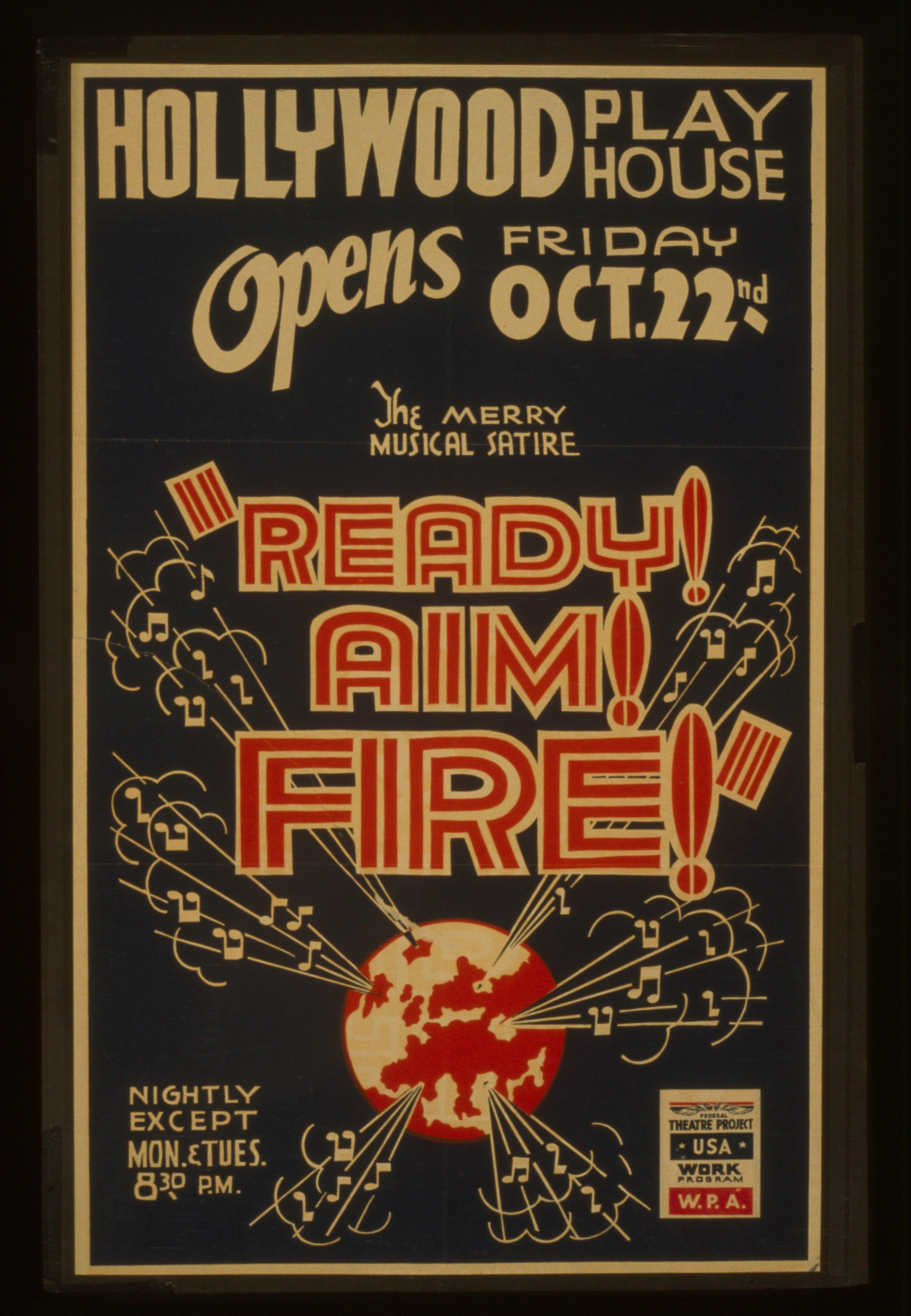File The Merry Musical Satire Ready Aim Fire Lccn98517762 Jpg