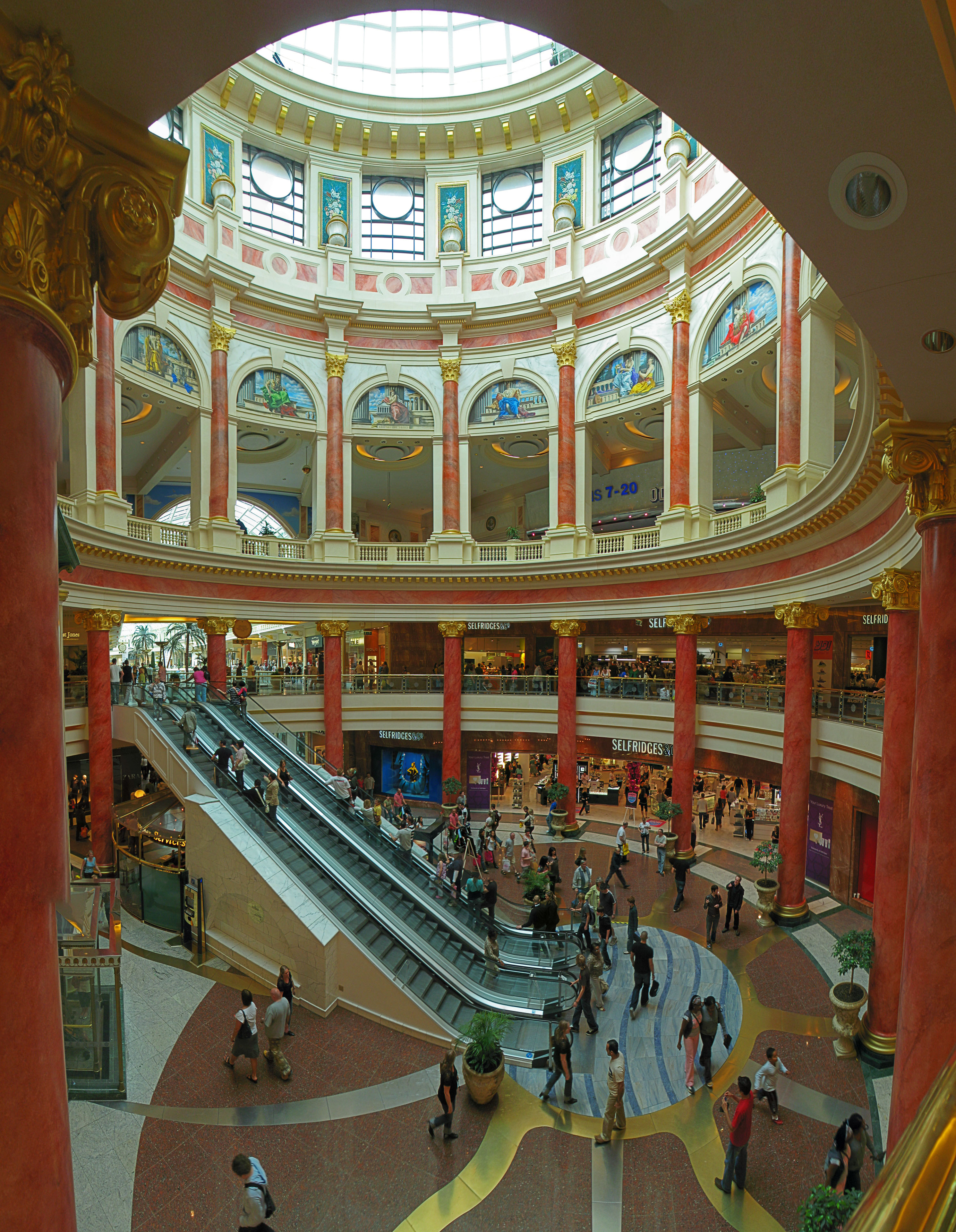 The Trafford Centre is one of the largest shopping centres in the United Kingdom.