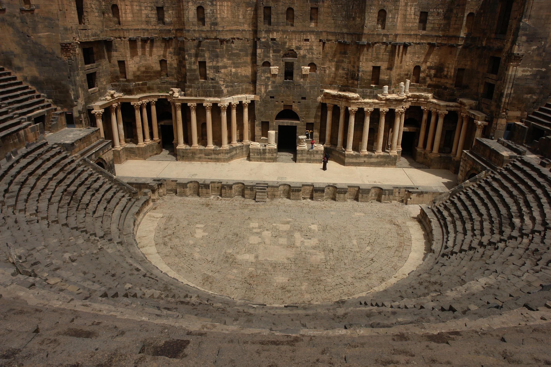 File:Trajans Roman theater, Bosra, SW Syria.jpg