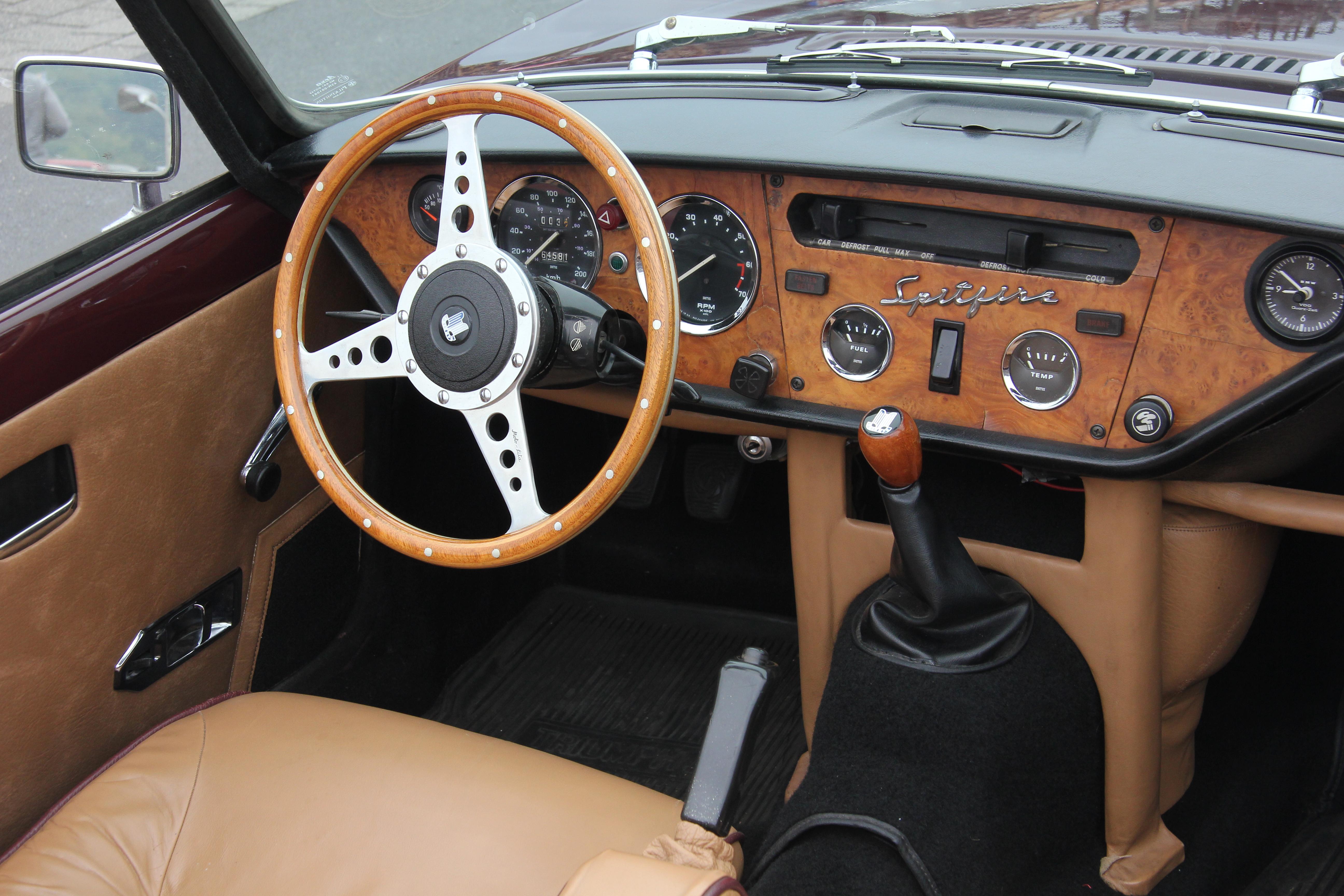FileTriumph Spitfire IV 20140913 7039 CockpitJPG  Wikimedia