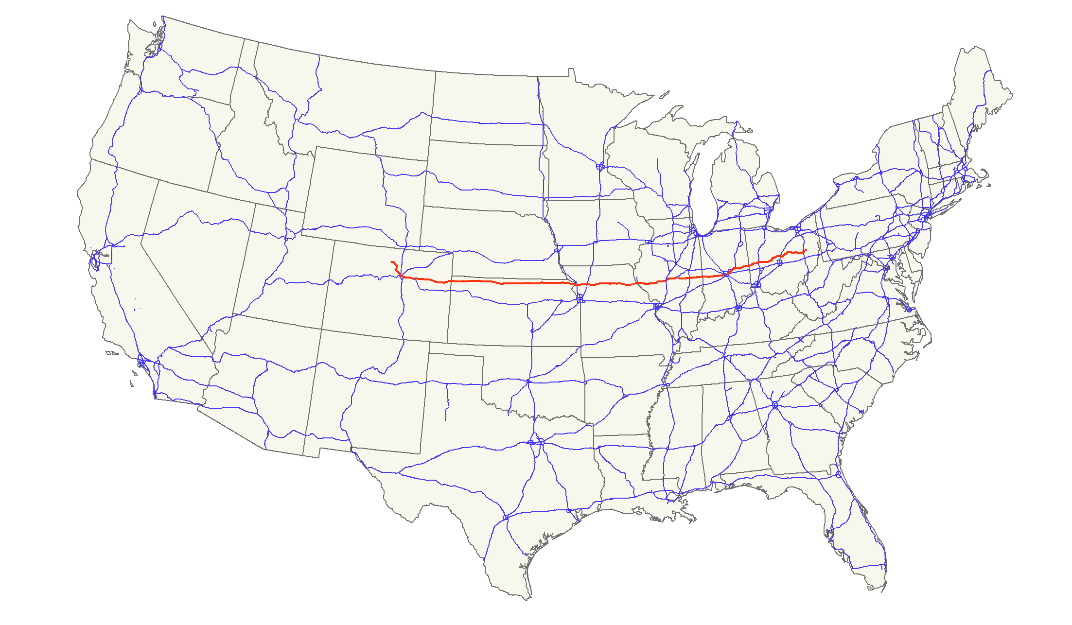 Us Highway 36 Map U.S. Route 36   Wikipedia